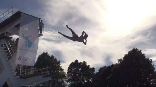 【衝撃】ノルウェーで新たな飛び込み競技が話題に!