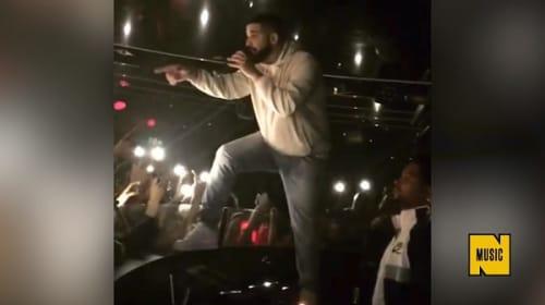 ドレイク、女性ファンの体を触っていた男性にステージ上から説教