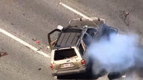 パトカーと逃走犯のカーチェイス&クラッシュが映画「ワイルド・スピード」級にスゴすぎる