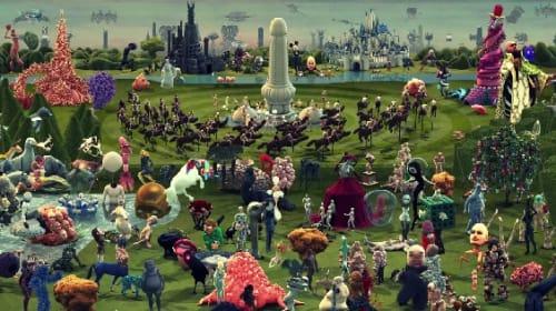 妖怪やモンスターが動き出す! 500年前の名画『快楽の園』を現代的に解釈したという3Dアニメーション映像が登場【動画】
