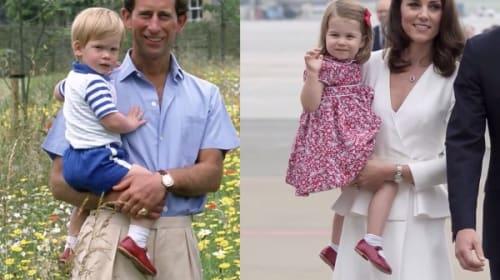 シャーロット王女、叔父ハリー王子のお下がりの赤い靴をかわいく履きこなす!