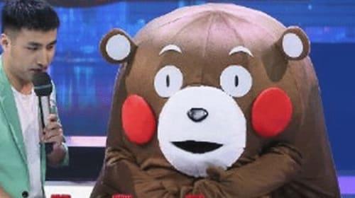 中国のテレビ番組で「くまモン」の偽キャラクターが登場して話題に