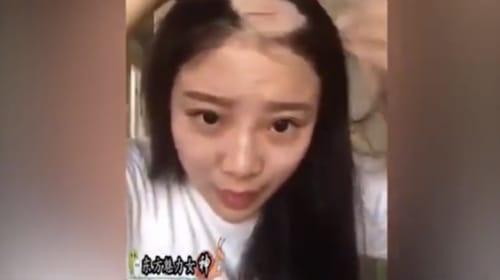 ザビエルかよ!ドリルに髪を巻き込まれズルムケになった中国美女が可哀想すぎる【動画】