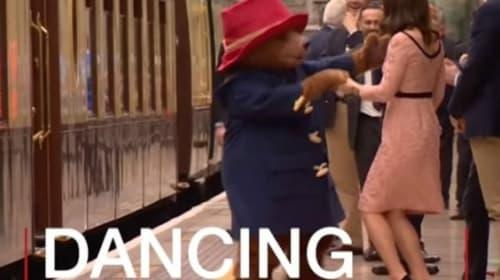 くまのパディントンと一緒に踊るキャサリン妃【映像】
