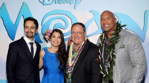 ディズニー新作『モアナと伝説の海』主人公には宮崎駿作品ヒロインと共通点あり? ロック様ことドウェイン・ジョンソンも声優出演 ワールド・プレミア開催!