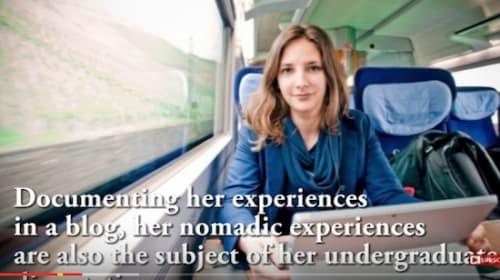 いきなり黄金伝説かよ!美人女子大生が電車内生活に挑戦【動画】