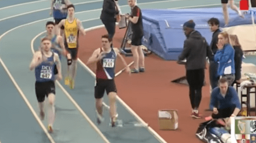Runner Denied Victory by Flying Elastic Strip in Freak Accident