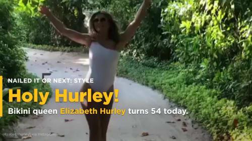 Liz Hurley ditches bikini in sizzling topless pool snap