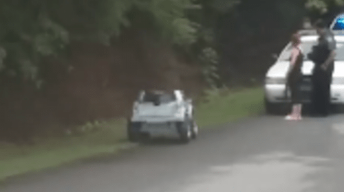 Police arrest woman driving a toy truck in South Carolina