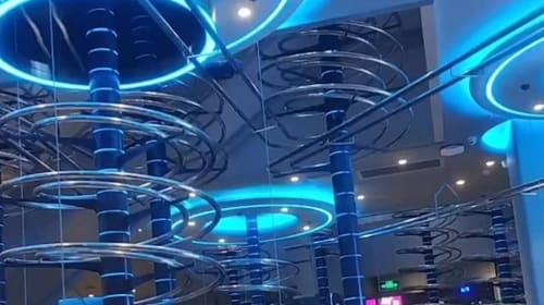 Restaurant uses slides instead of waiters to deliver food