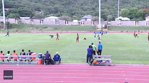 Lightning strikes multiple young footballers during match in Jamaica