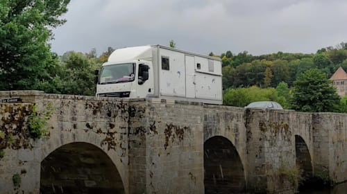 Couple converts lorry for lengthy trips around Europe