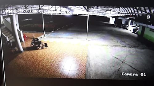 Spooky moment 'ghost uses his old wheelchair' at hospital in Thailand