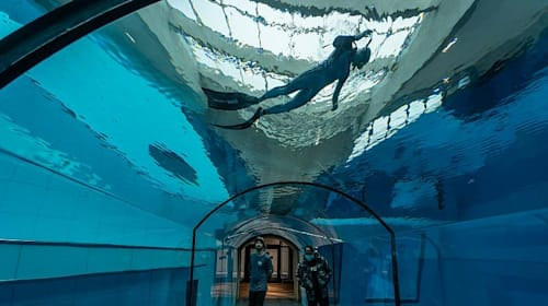 World's deepest swimming pool opens its doors in Poland