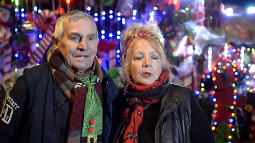 A couple in their 70s have spent lockdown transforming their home for Christmas