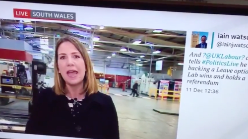 BBC comes under fire after political correspondent refers to majority Boris Johnson 'so deserves' during broadcast