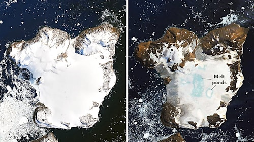 Alarming satellite images of Antarctica reveal extreme melting event