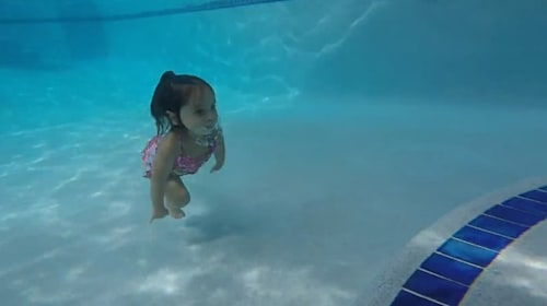 This three-year-old swims better than most adults