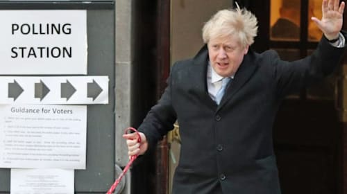 Johnson's election gamble set to pay off as exit poll predicts Tory majority