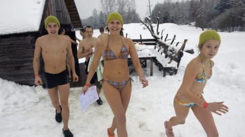 Hot pursuit! Racers brave the cold and heat during the European sauna marathon