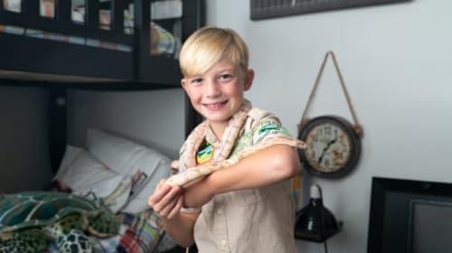 10-year-old reptile fan bitten by pet snake