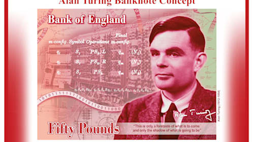 Mathematician Alan Turing to feature on new £50 note