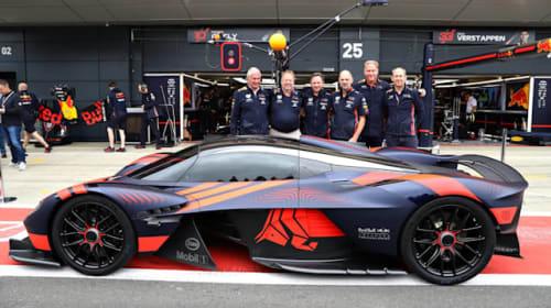 Aston Martin Valkyrie makes its public debut at British Grand Prix