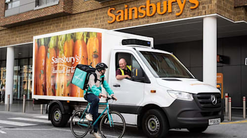 Sainsbury's partners with Deliveroo in pizza delivery trial