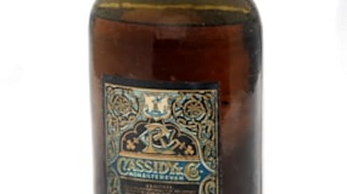 Rare bottle of old Irish whiskey to go up for auction