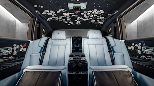 Rolls-Royce unveils flower headlining crafted from one million stitches