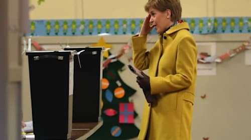 Exit polls suggest good night for SNP – but Sturgeon says UK forecast 'grim'