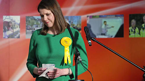 Jo Swinson blames 'wave of nationalism' as Lib Dem leader loses seat