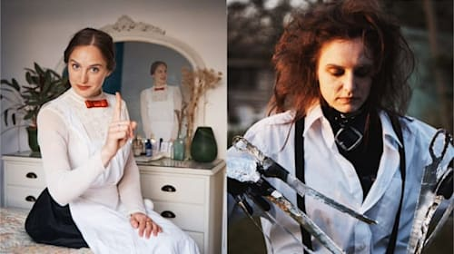 Duo spend isolation recreating famous looks from Mary Poppins to Sir Elton John