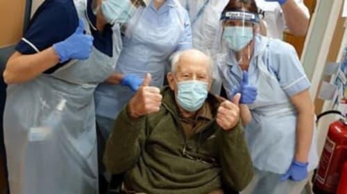 Man aged 101 returns home after hospital treatment for coronavirus