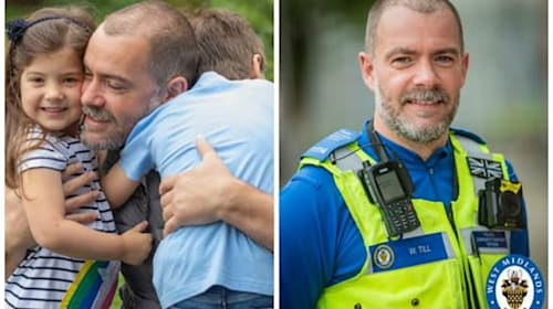 'Unsung hero' officer reunites with family after isolating during pandemic