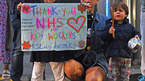 In Pictures: Nation comes together to applaud NHS staff and key workers