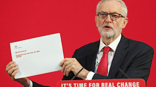 Jeremy Corbyn claims PM misled people about customs checks in his Brexit deal