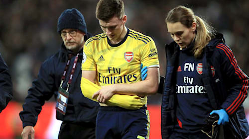 Kieran Tierney set for lengthy spell on sidelines with dislocated shoulder
