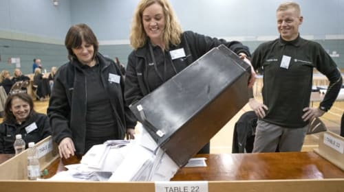 In Pictures: Out for the count as voters make their decision