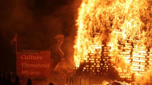 Twelfth of July: Crowds gather as bonfires lit amid coronavirus restrictions