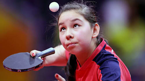 China return in the air for table tennis prodigy Anna Hursey