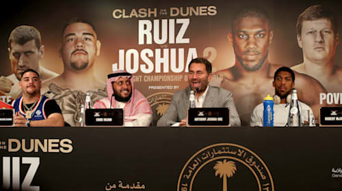 Joshua 'hungry, determined and focused' ahead of Ruiz rematch