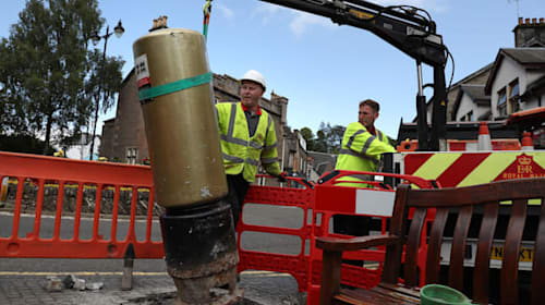 Andy Murray's golden postbox reinstated after being knocked over by car
