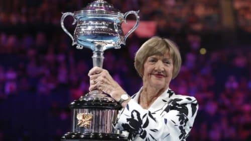 Muted reception for Margaret Court as Australian Open marks her achievements