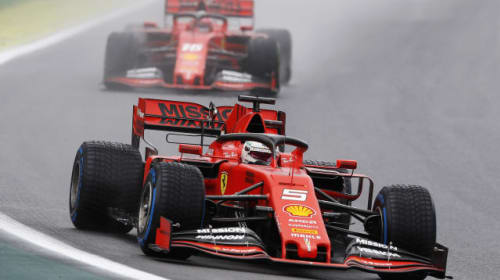 Vettel and Leclerc summoned to Ferrari headquarters after collision in Brazil GP