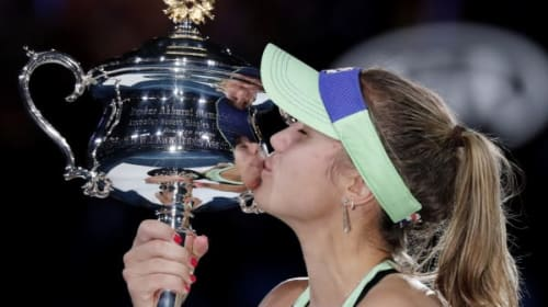 Australian Open day 13: Sofia Kenin hits back to land first grand slam crown