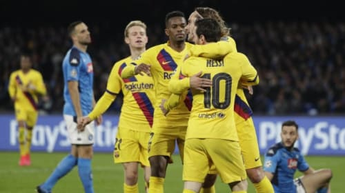 Setien takes positives out of Barcelona's draw with Napoli