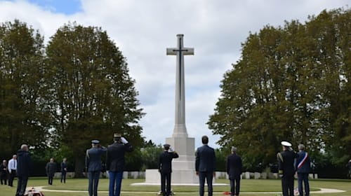D-Day anniversary marked with socially-distanced ceremony