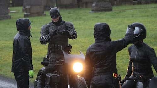 First look at The Batman's new suit as filming begins in Glasgow