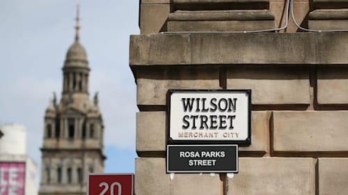 Anti-racism campaigners rename Glasgow streets linked to slave owners